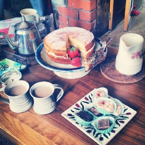 Tea time in Saintfield, Northern Ireland