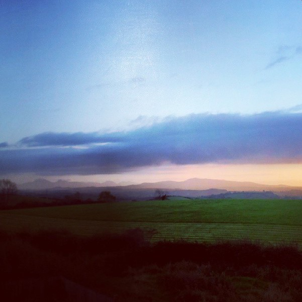Dusk in the countryside near Saintfield, Northern Ireland