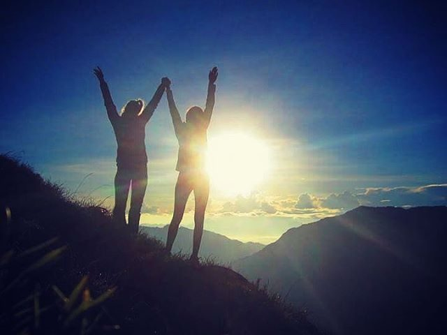 Watching the sunrise over Hehuanshan with my sister, Taiwan