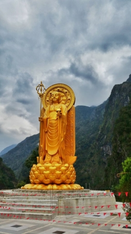 Buddhist temple in Taroko Gorge, Taiwan