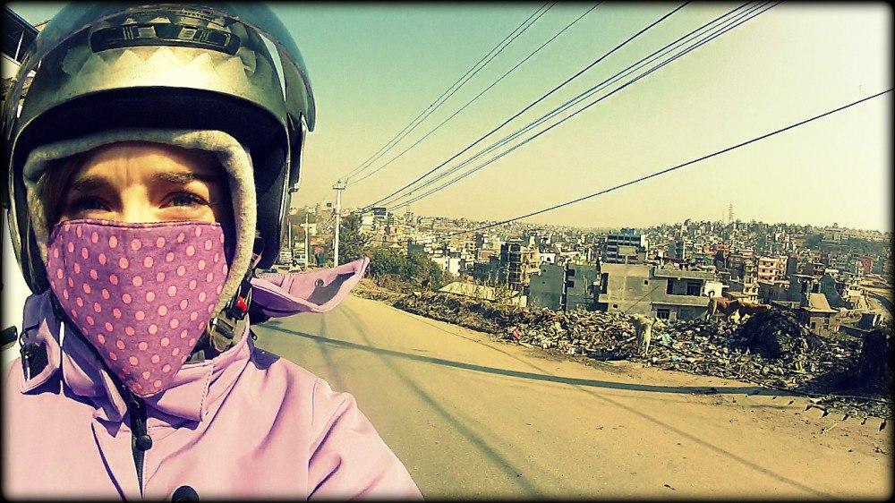 Driving through Kathmandu, Nepal