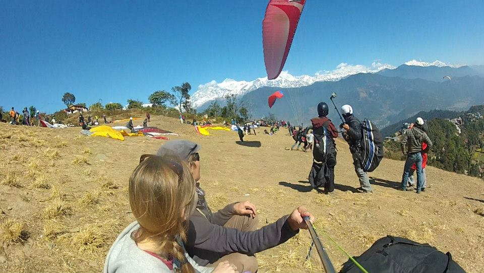 Hanging out at the takeoff zone, Pokhara Nepal
