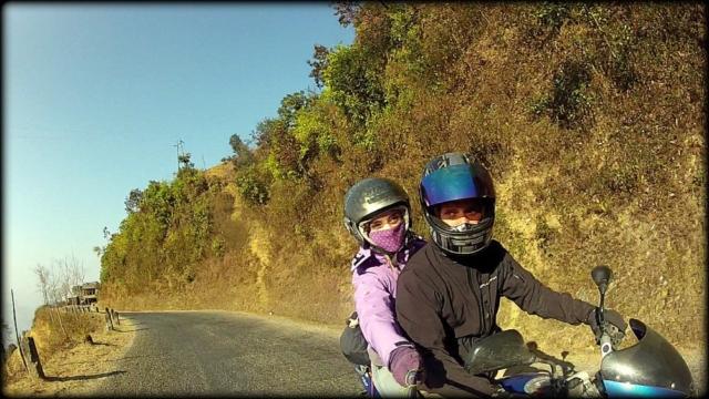 On the mountain roads between Kathmandu and Chitwan, Nepal