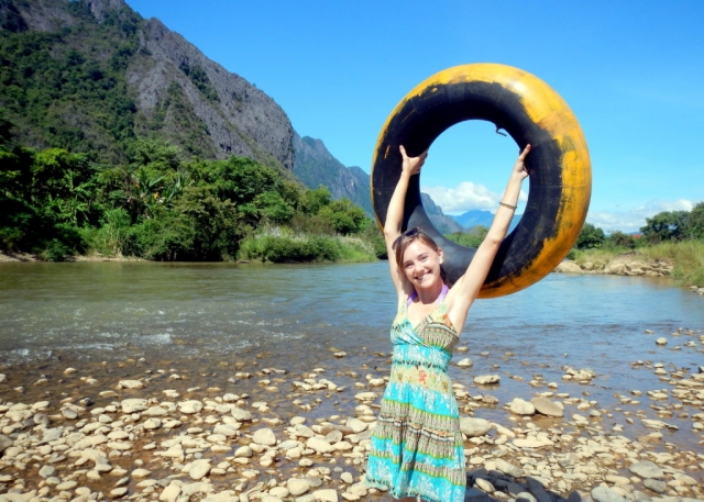 Floating the Nam Song River in Vang Vieng Laos