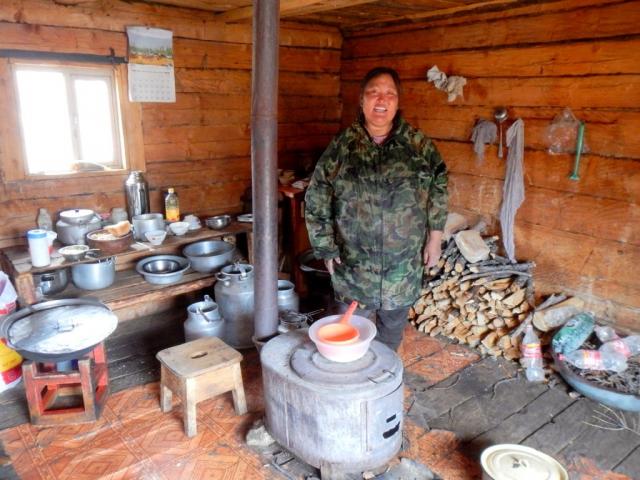 Ut in her home, northern Mongolia