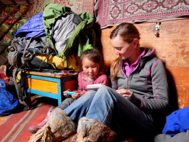 Inside our guide's family ger. Northern Mongolia.