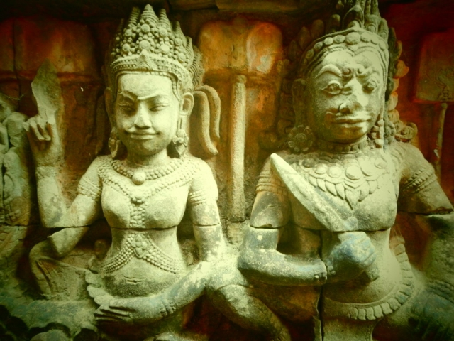 The gods of Angkor, Cambodia