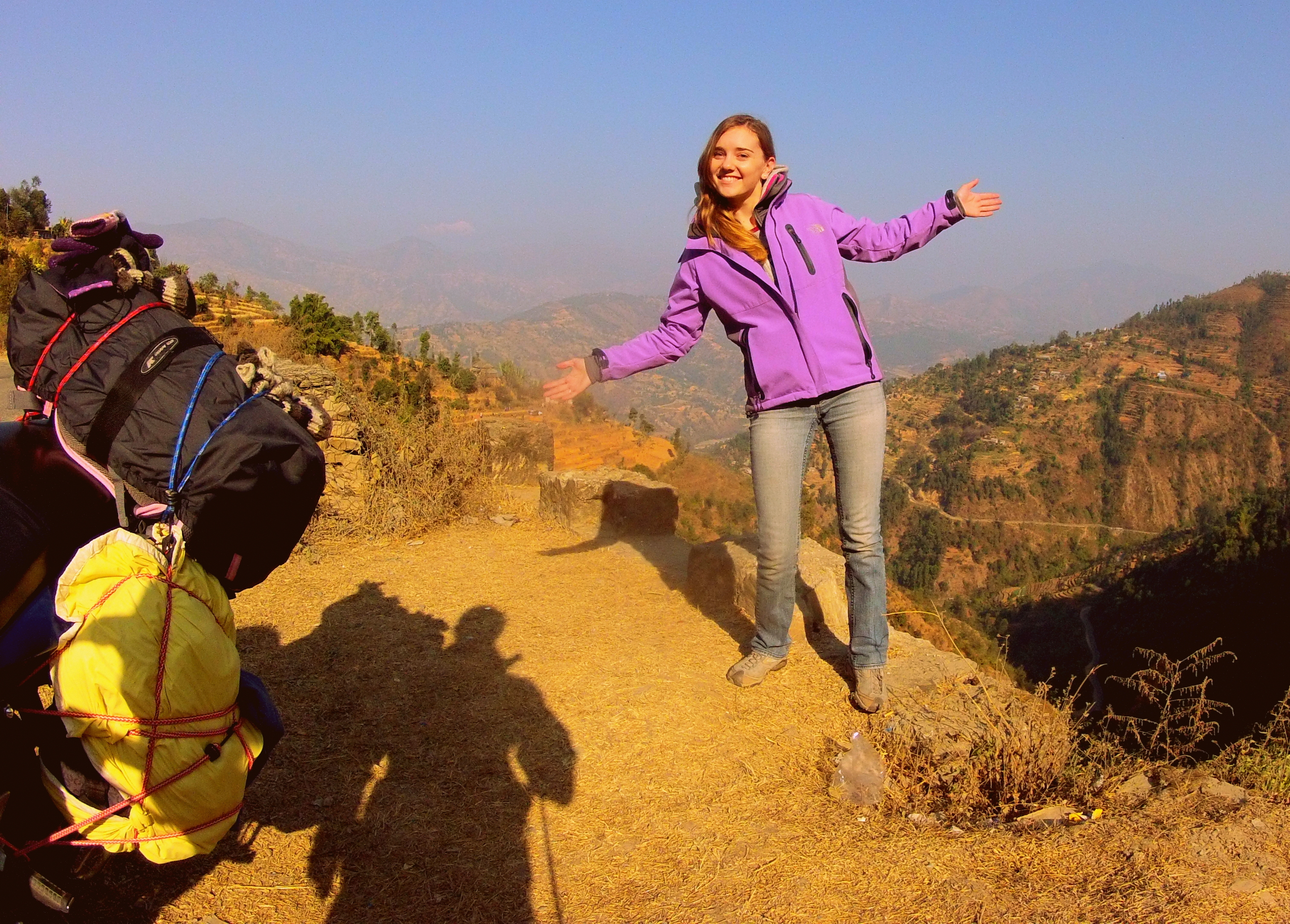 On the mountain roads to Chitwan, Nepal