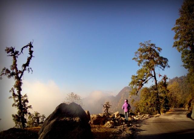The empty mountain roads of Nepal
