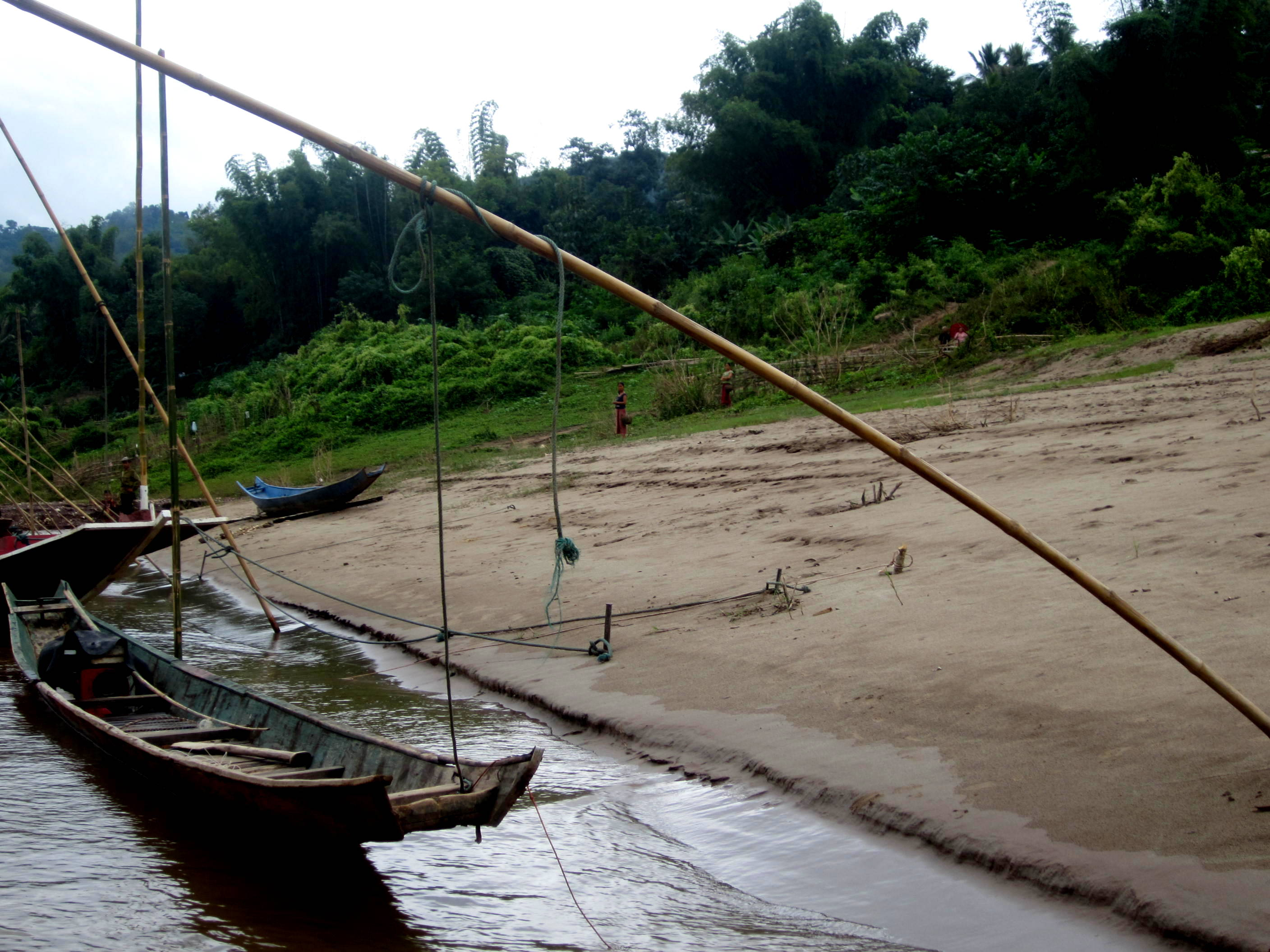 """One of the """"stops"""" while taking the riverboat from Laos back to Thailand"""