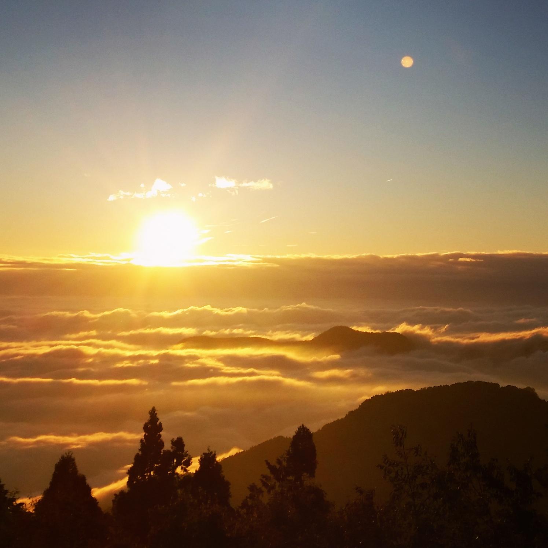 Alishan sunset, Taiwan