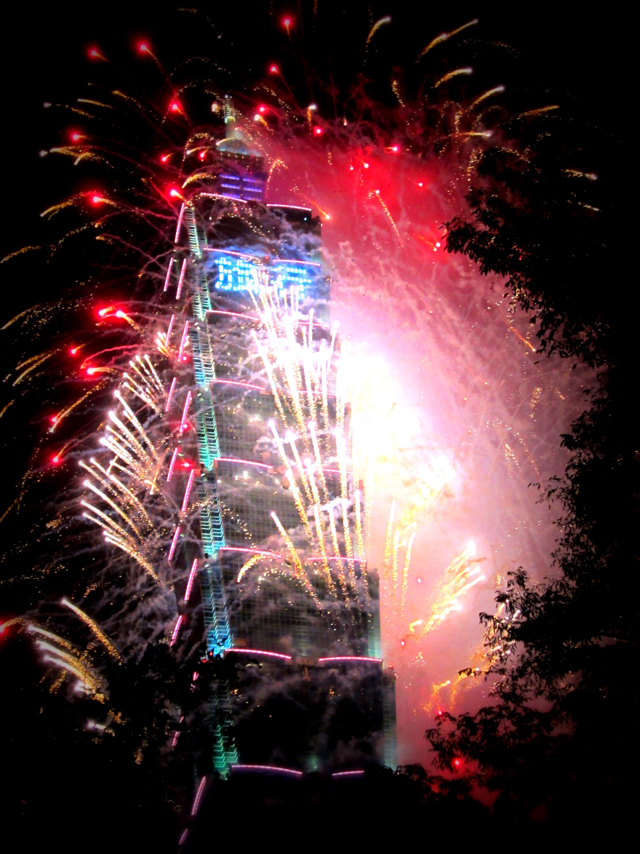 Taipei 101 on New Year's Eve, Taiwan