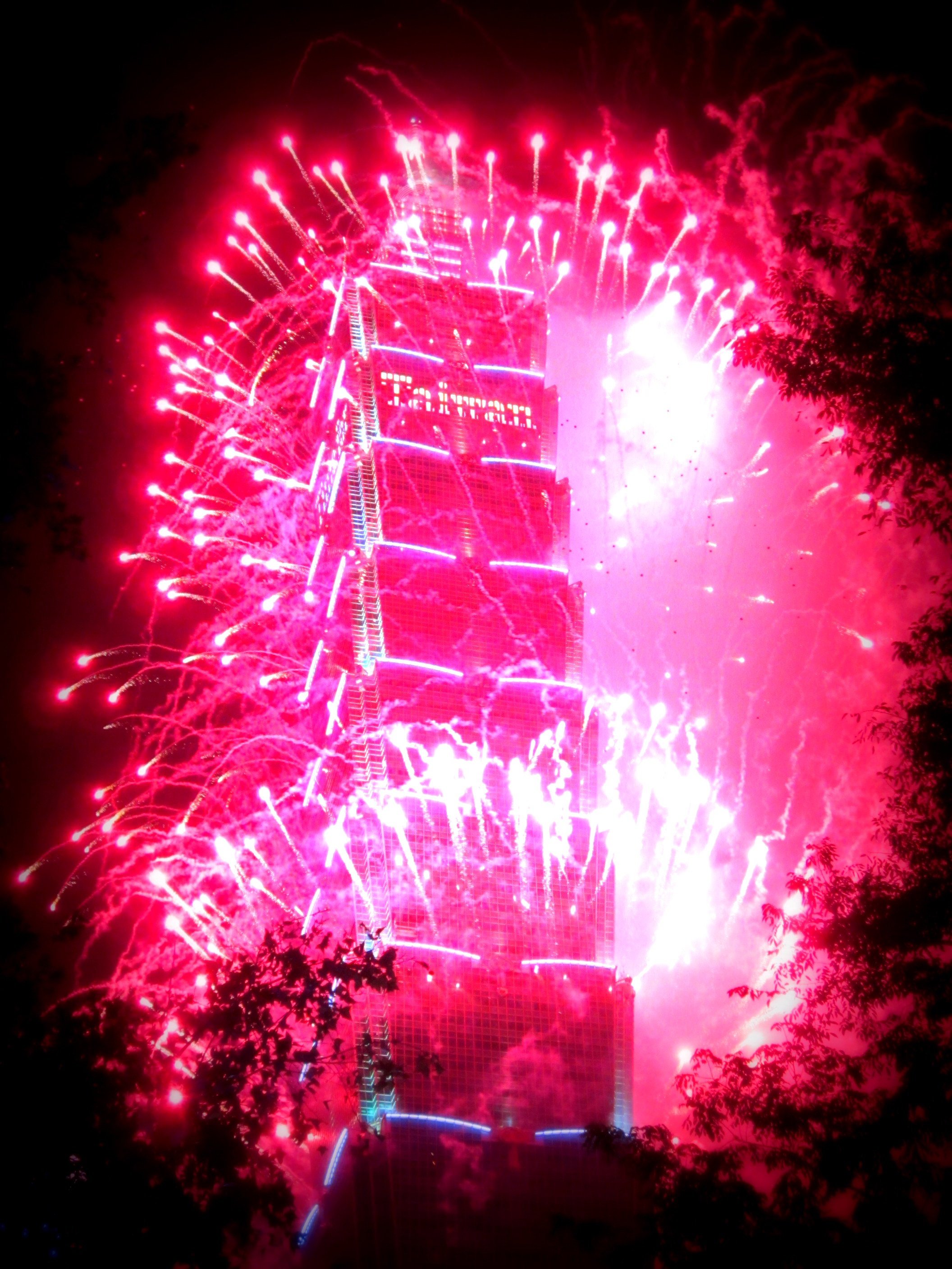 Taipei 101 on New Year's Eve Taiwan