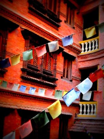 Prayer flags in Kathmandu, Nepal