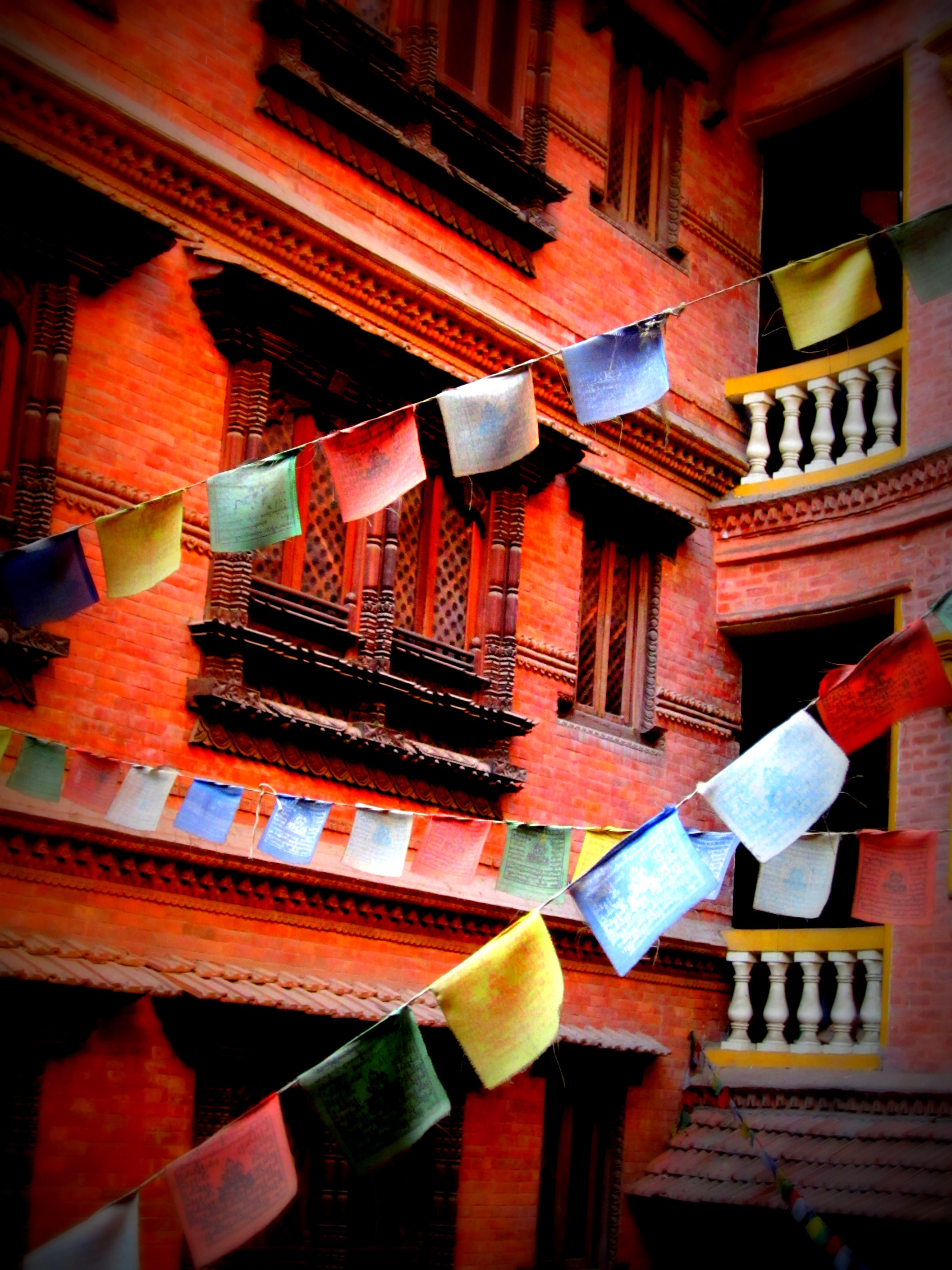 Prayer flags in Kathmandu, Nepal