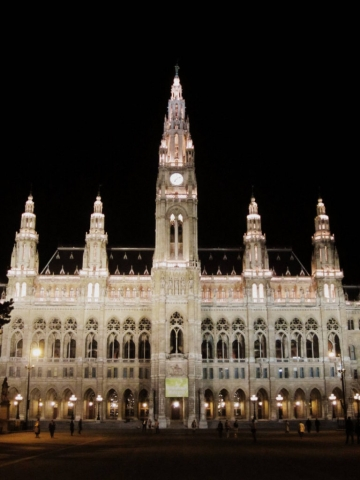 Wiener Rathaus, the city hall of Vienna Austria