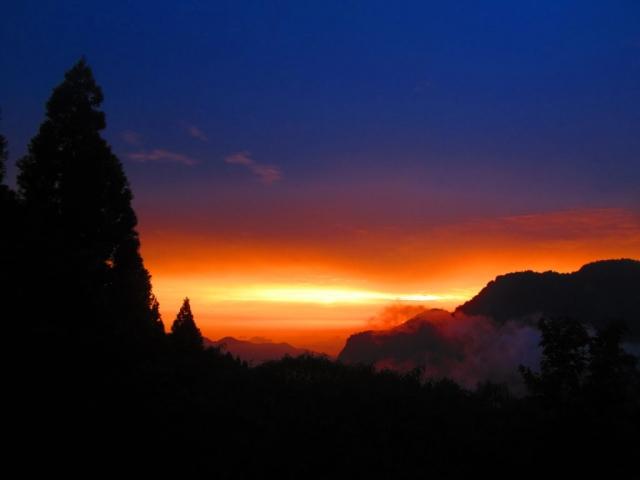 sunset- Alishan, Taiwan