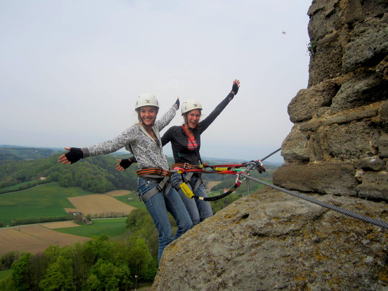Climbing Riegersburg Castle Austria