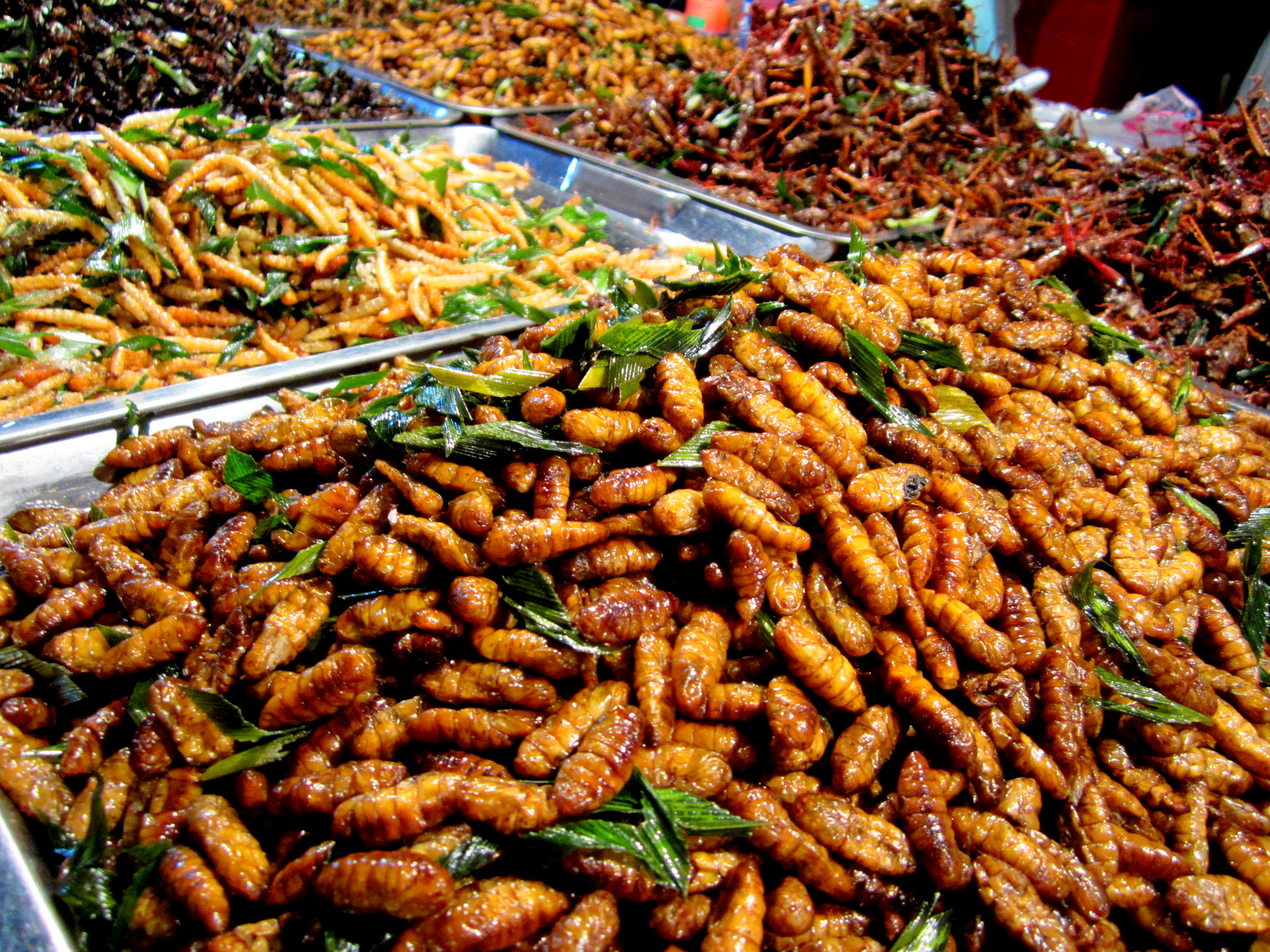Night market snacks in Khon Kaen, Thailand