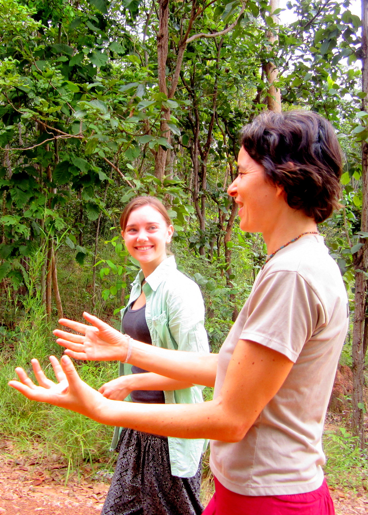 Anja, one of the leaders of the Mindfulness Project in Khon Kaen, Thailand