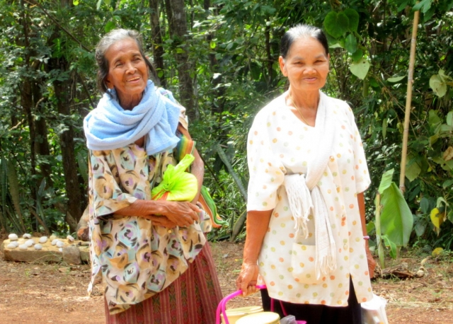 Local Thai women-- they live in the jungled rural area around Khon Kaen, Thailand