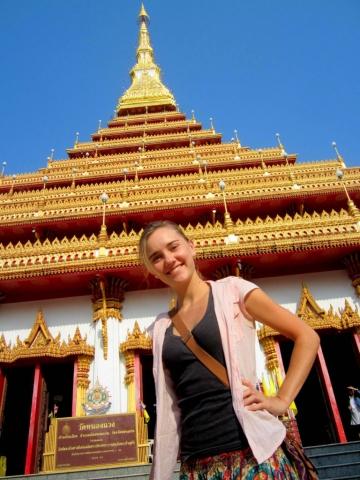 Phra Mahathat Kaen Nakhon in Khon Kaen, Thailand