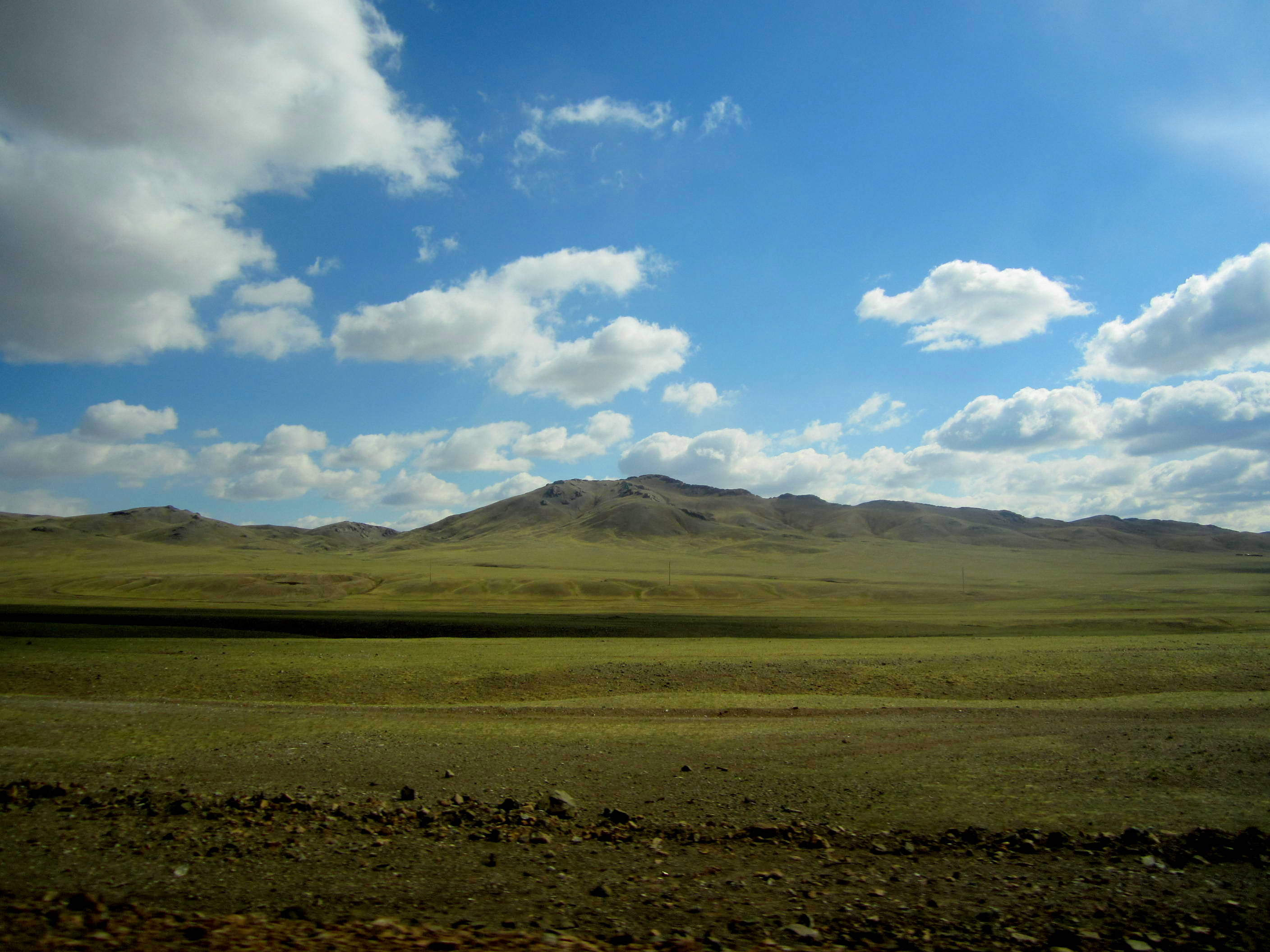 The Mongolian countryside is just wide expanse