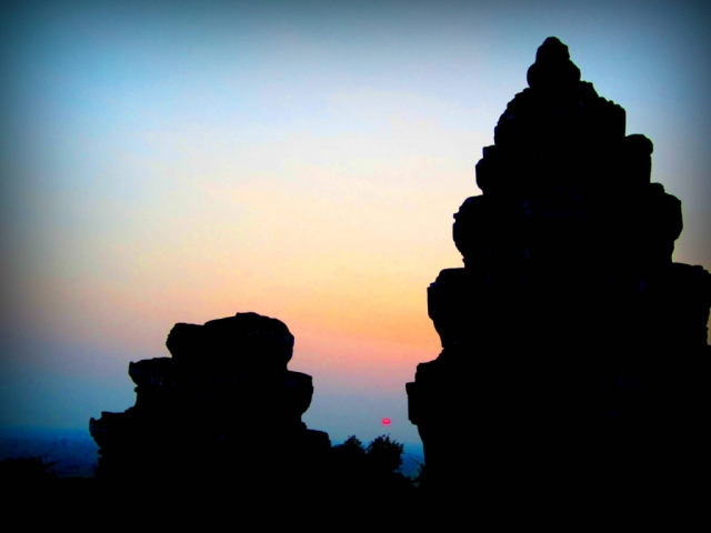 Sunset over Angkor, Cambodia