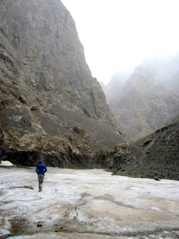 The bleak ice caverns of Yoliin Am, Gobi, Mongolia