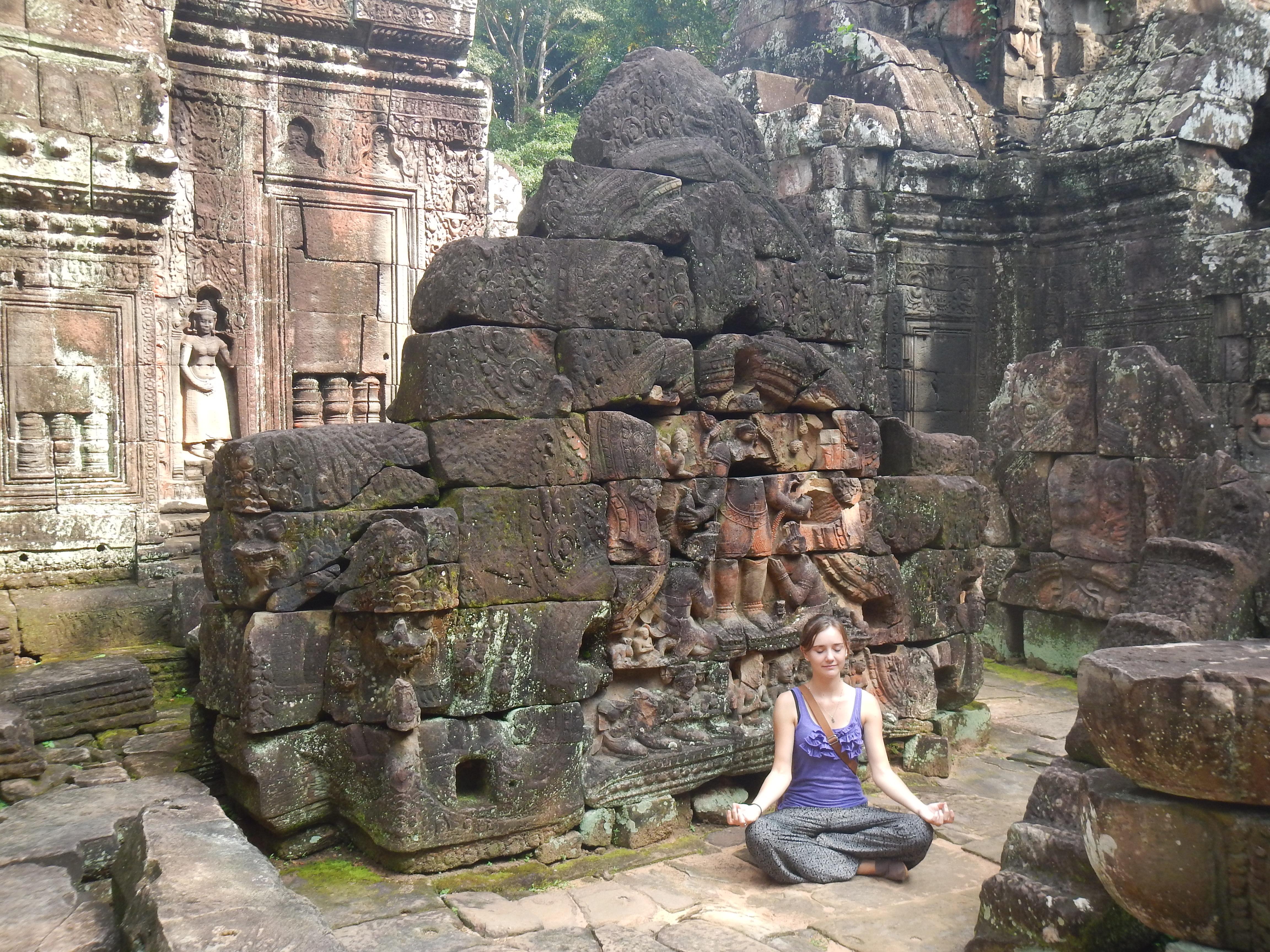 In Banteay Srei, Cambodia