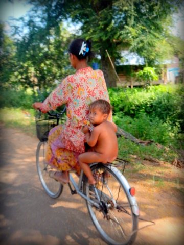Cambodian mother and child