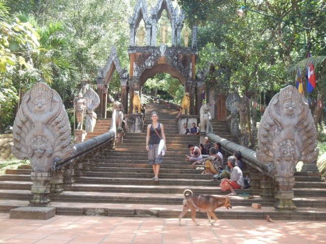 A temple, Preah Ang Thom, near Kulen Waterfall