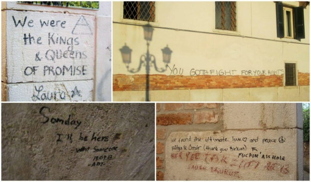Venetian street scribbles, Italy