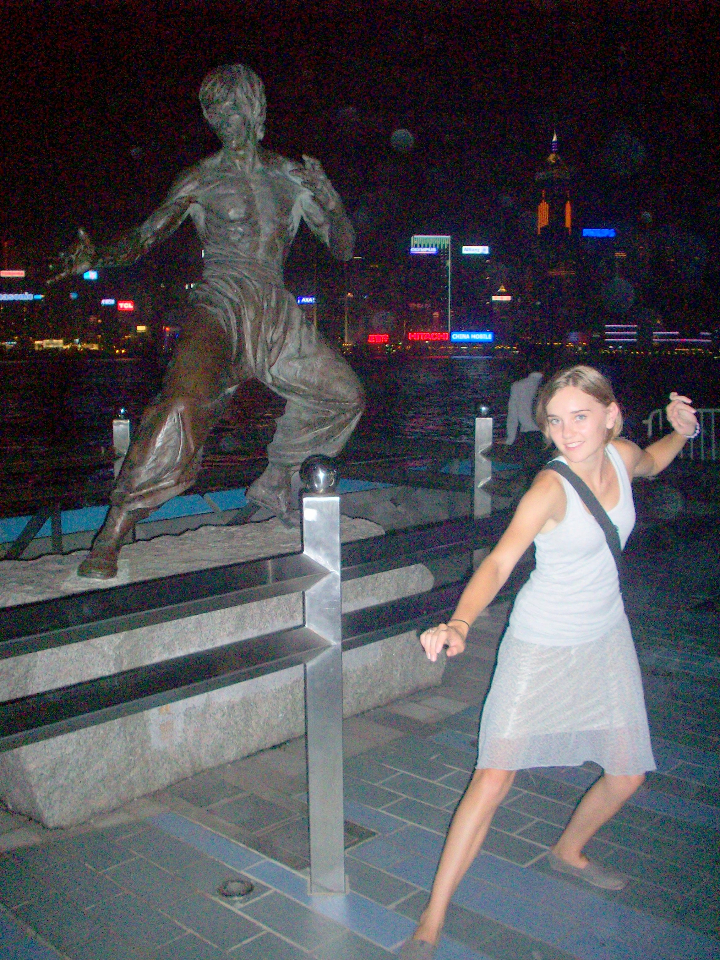 Bruce Lee on the Walk of Stars. Hong Kong