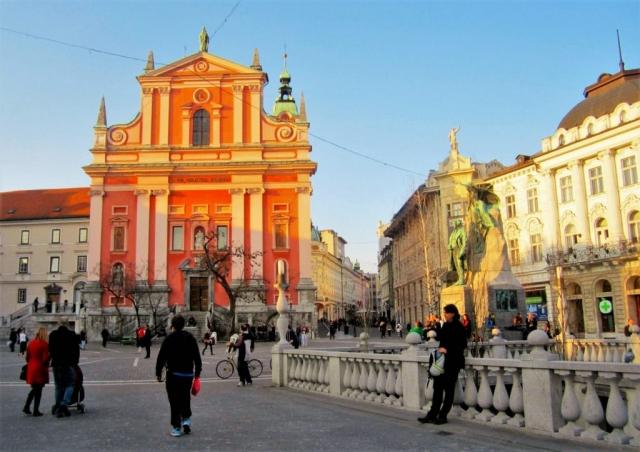 Ljubljana town square, Slovenia