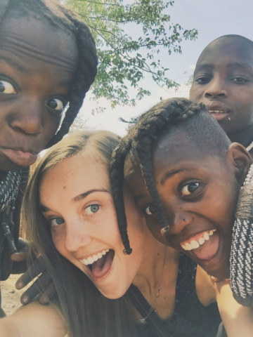 Opuwa, Namibia - Himba tribe. No matter where they're from, kids love to take goofy selfies.