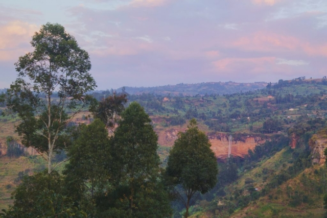 Sipi Falls, Uganda- the view from our hostel window. (We stayed at the Crow's Nest.)