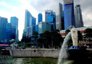 Merlion, Marina Bay. Singapore