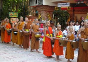 Young monks waiting their turn